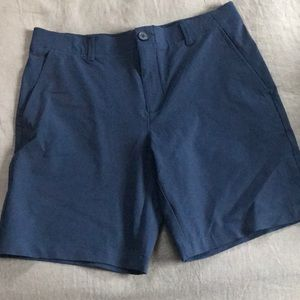 Blue golf shorts